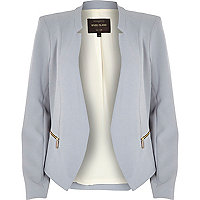 Lilac open front jacket