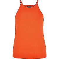 Orange crepe racer front top