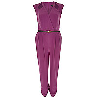 Purple cut out jumpsuit