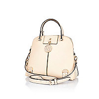 Cream mini kettle bag
