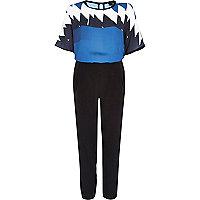 Black graphic print jumpsuit