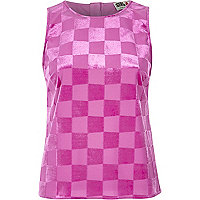 Pink Chelsea Girl square tank top