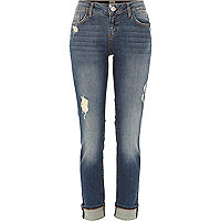Mid wash Daisy slim jeans