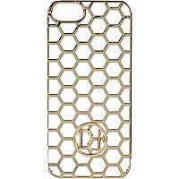 Gold tone honeycomb iphone 5 case