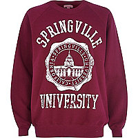 Red Springville University print sweatshirt