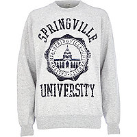 Grey Springville University print sweatshirt