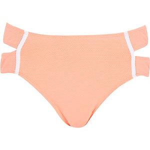Orange textured bikini bottoms