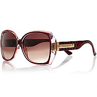 Red square sunglasses