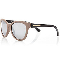Brown and black cat eye sunglasses