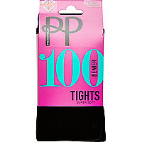 Black Pretty Polly opaque supersoft tights