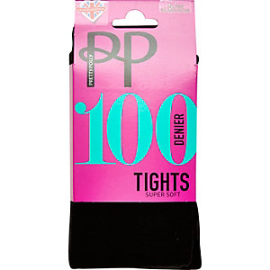 Black Pretty Polly 100 denier opaque tights