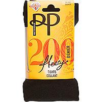 Black Pretty Polly fleecy opaque tights
