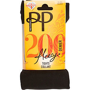 Black Pretty Polly fleecy opaque tights