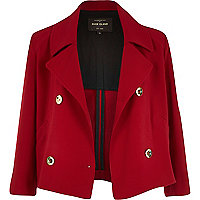 Dark red cropped jacket