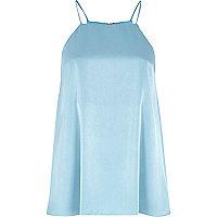 Blue silky cami