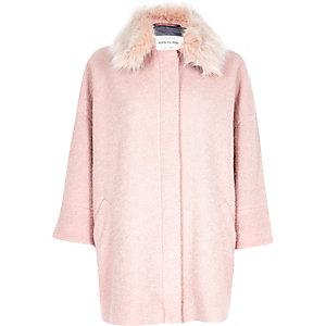 Light pink oversized coat