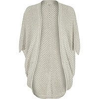 Light grey cocoon cardigan