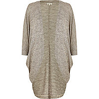 Gold metallic cocoon cardigan