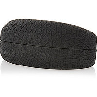 Black snake print sunglasses case