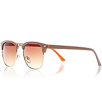 Beige and orange retro sunglasses