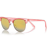 Red retro mirror lens sunglasses