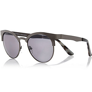 Grey metal retro sunglasses