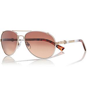 White aviator sunglasses