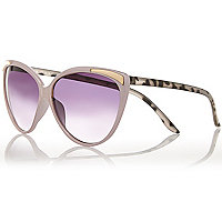 Light purple metallic insert cat eye sunglass