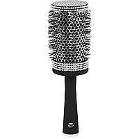 Black diamante blow dry hairbrush