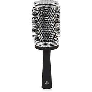Black rhinestone blow dry hairbrush