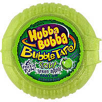 Hubba Bubba sour green apple bubble gum