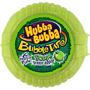 Hubba Bubba sour green apple bubble gum