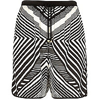 Black striped board shorts