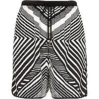 Black stripe board shorts