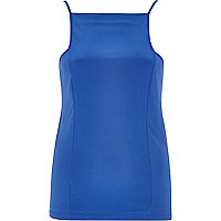 Blue square neck cami
