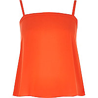Orange button cami