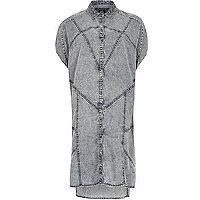 Blue Design Forum acid wash shirt dress