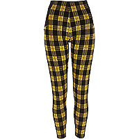 Yellow Check Rl Legging Ski Bunny Check