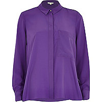 Purple loose fit shirt