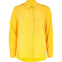 Yellow loose fit shirt