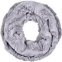 Grey faux fur snood