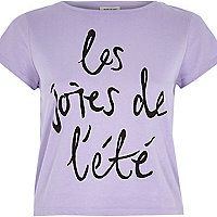 Purple french print t-shirt
