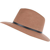 Camel fedora hat