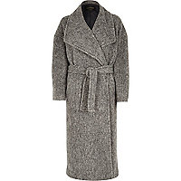 Grey robe coat