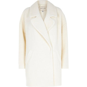 Cream woollen oversized coat