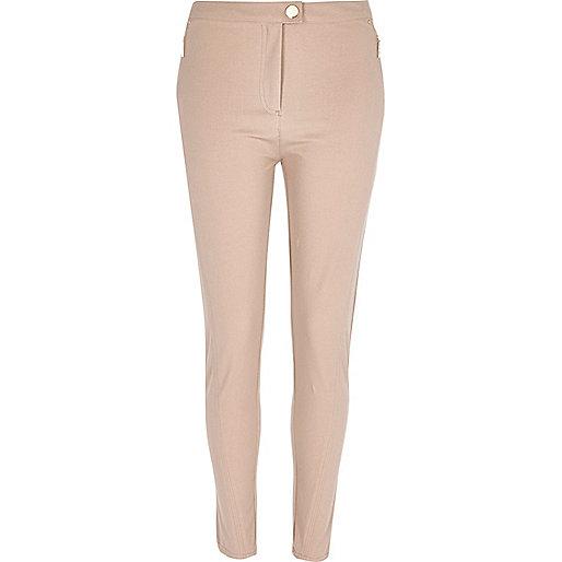 Beige skinny trousers