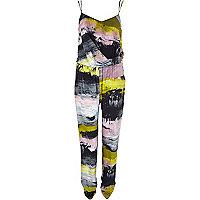 Pink graphic print jumpsuit