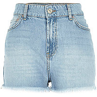 Light wash high waisted Darcy denim shorts