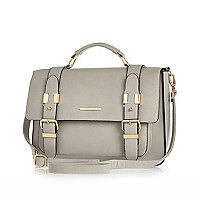 Grey large satchel