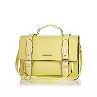 Yellow large satchel bag